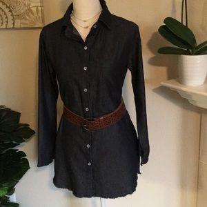 Dresses & Skirts - Boho Cotton Denim Look Dress NWOT